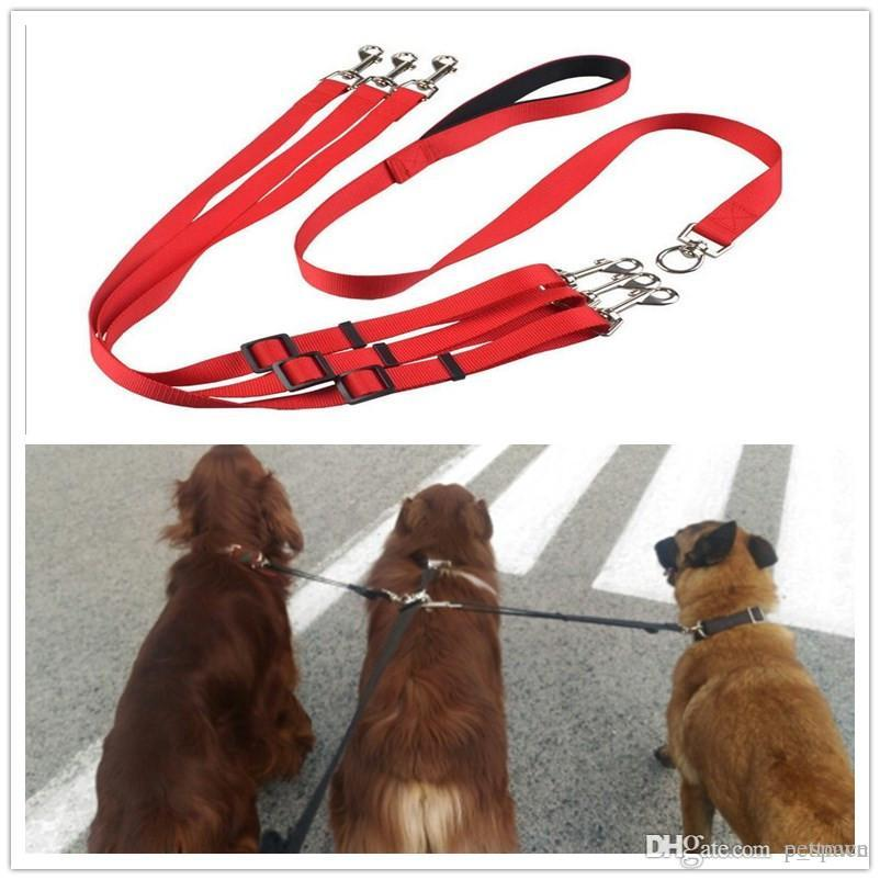 B22 triple pet Leashes for 1 to 3 dogs Nylon dog Pull strap for meidum and big dogs high quality