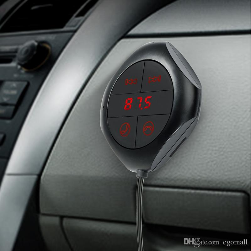 Reproductor de MP3 para coche Car Bluetooth FM Transmisor Manos libres Kit de coche Reproductor de música MP3 Radio Voltaje Monitor TF U Disco 2 USB r