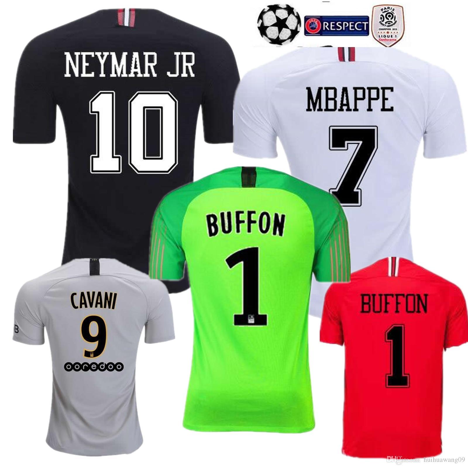 Maillots 18 19 PSG MBAPPE Camiseta Local T SILVA CAVANI DI MARIA PASTORE  2018 2019 Paris Verratti Buffon Portero Campeones Camiseta Jersey Liga Por  ... 90fde6f274b50