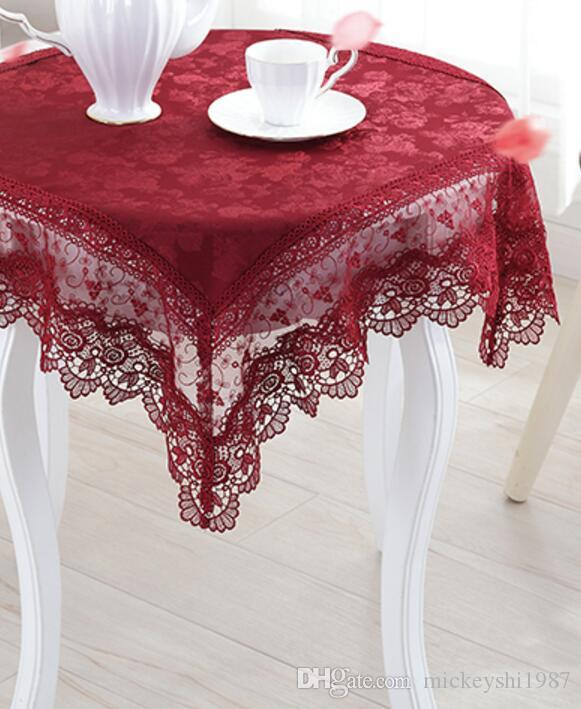 Wedding tablecloth round table clothes refrigerator TV set cloth lace cloth art wedding ceremony towel washing machine bedside table cloth