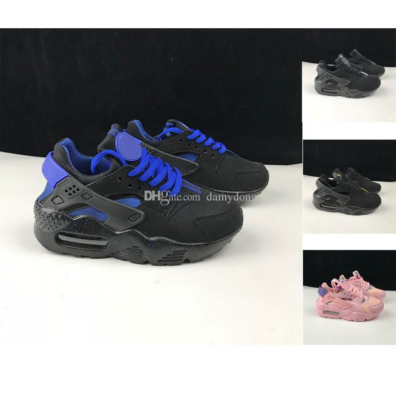 c9220e1ac2de 2018 New Air Huarache Running Shoes Trainers Junior Boys Girls Men And  Women Black White Outdoors Shoes Huaraches Sneakers Tennis Shoes For  Toddlers Tennis ...