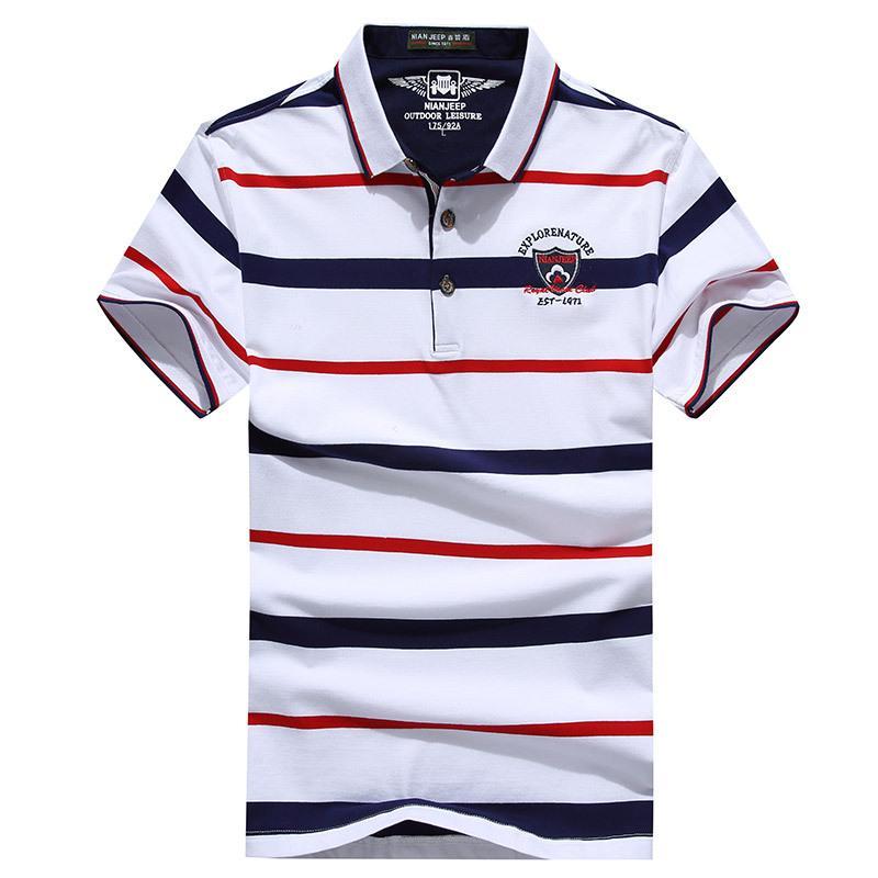 Shirt Men Cotton Casual Slim Fit Classic Striped S Shirts Short ... 0aae1e7ab488