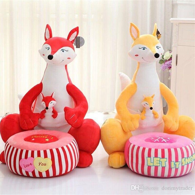 Superbe 2018 Dorimytrader Animal Fox Penguin Giraffe Crocodile Sika Deer Kangaroo  Baby Sofa Pillow Cartoon Animal Chair Cushion Children Gift From  Dorimytrader, ...
