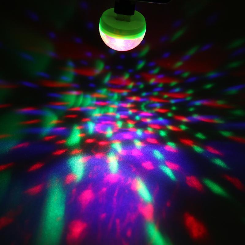 mini usb disco light crystal ball portable for christmas home party