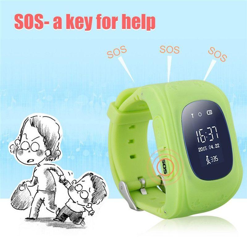 Q50 Kids LBS Tracker Reloj inteligente para niños Teléfono SIM Banda cuádruple GSM Llamada SOS segura PK Q80 Q90 Para Android IOS reloj inteligente tarjeta sim