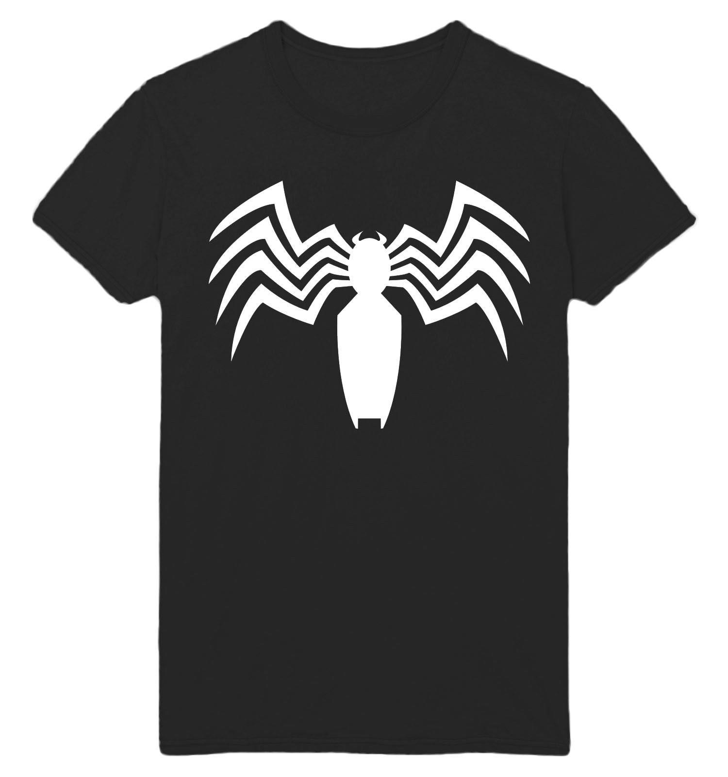VENOM 2018 MARVEL TOM HARDY VENOM LOGO PH702 UNISEX BLACK TEE funny gift  Short short Sleeve T-Shirt Tops Round Neck Tees