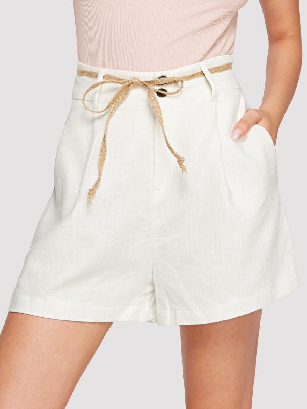 Match Solide Dessus Au Pantalon Shorts Coton Femelle All Haute En Couleur Style Du Femmes Genou Coréen Été Casual 2018 Taille tdohCsBrxQ