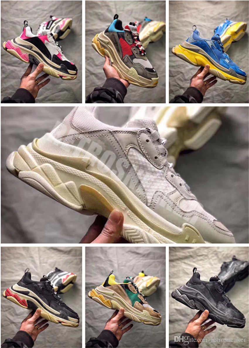 5ce1db6c9b094 2018 FW Retro Triple S2.0 Sneaker Mens Fashion Vintage Kanye West ...