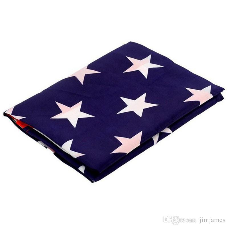 90x150cm Bandera americana Poliéster Bandera de EE. UU. Bandera de EE.UU. Banderines nacionales Bandera de Estados Unidos 3x5 pies H218w