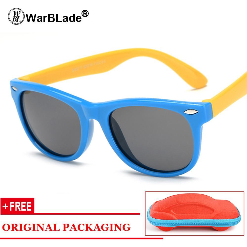 d5dae70458 Compre Kids Boys TR90 Gafas De Sol Polarizadas Irrompibles Niños Niñas  Seguridad Polaroid UV400 Espejo Gafas De Sol Sport Oculos Con El Caso A  $23.05 Del ...