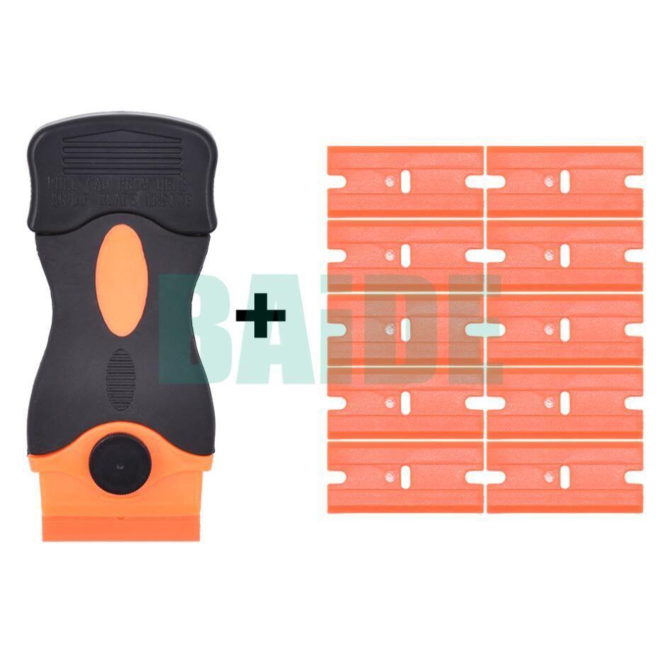 Plastic Scraper Knife With Orange Blade Handle Relieving Tool for Cellphone  Screen Replace LOCA UV Glue Remove 100set/lot