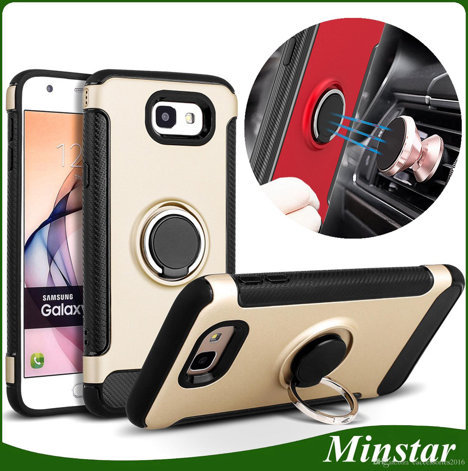 For Samsung J7 2017 J7 Prime J3 Prime J5 2017 J3 2016 J7 Max 360degree Rotating Ring Kickstand Case Magnetic Stand Flexible Cover Personalized Cell Phone