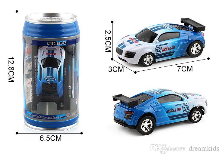 Coke Can Mini RC Kit Radio Remote Control Toys Electric Micro Racing Car Remote Control 4 Frequencies Toy For Children