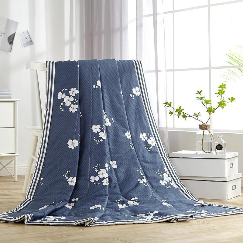 Acheter Plante Tropicale Imprime Coton Climatisation Ete Bleu
