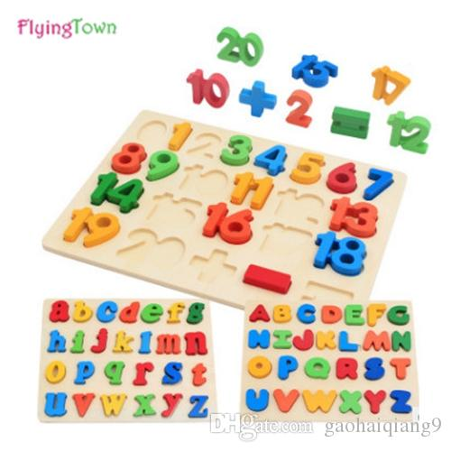 28fa6c867d1dd FlyingTown Wooden Puzzles For Children 2 4 Years Old 3d Puzzle Jigsaw Board Educational  Toys For Kids Learning Games Fun Letter Cool Learning Toys Great ...