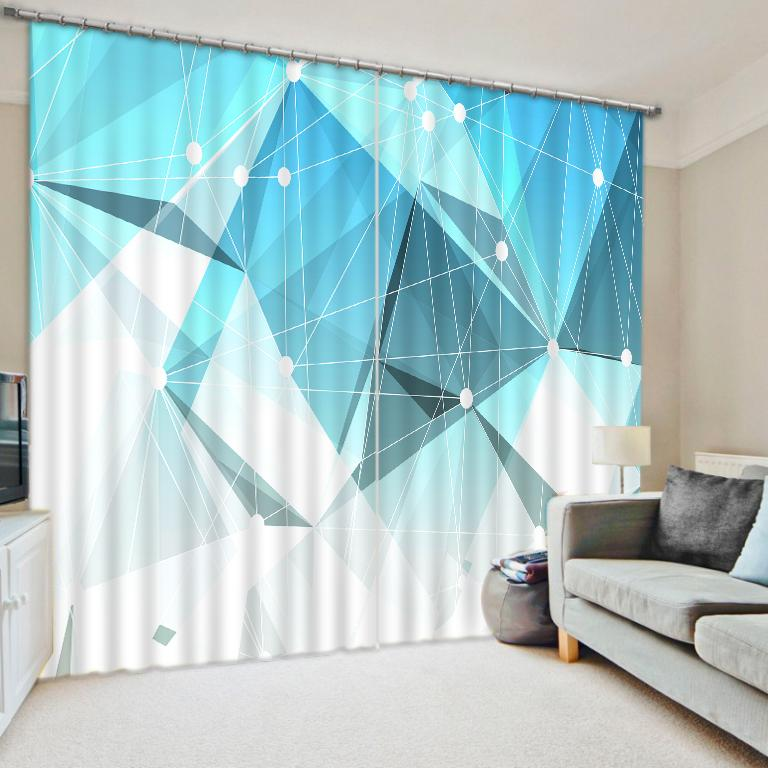 3D Photo Curtains abstract pattern Blackout Curtains Living Room Bedroom  Stereo geometry Beautiful Window Drapes