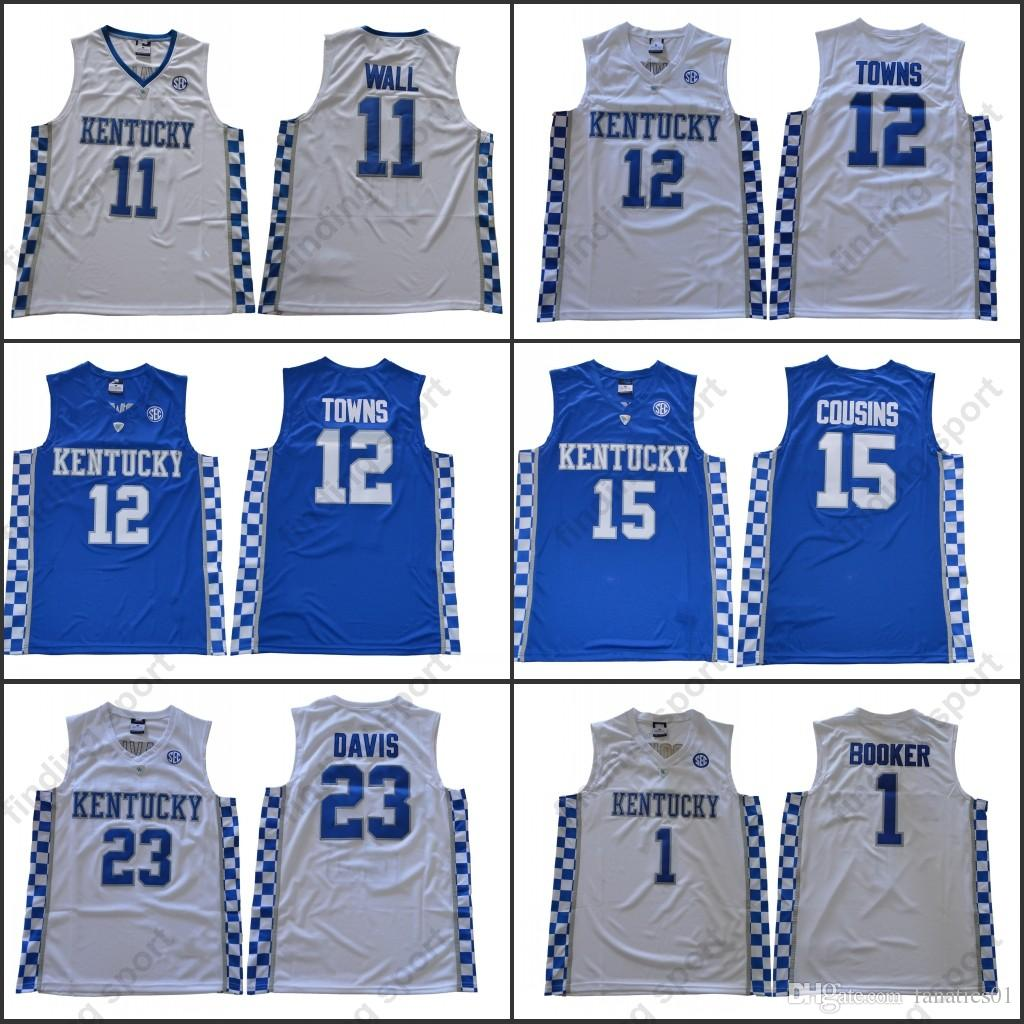 c37d03fe264 2019 NCAA MENS Kentucky Wildcats 11 John Wall 23 Anthony Davis 12 Karl  Anthony Towns 15 DeMarcus Cousins 1 Devin Booker Basketball Jerseys From  Fanatics01