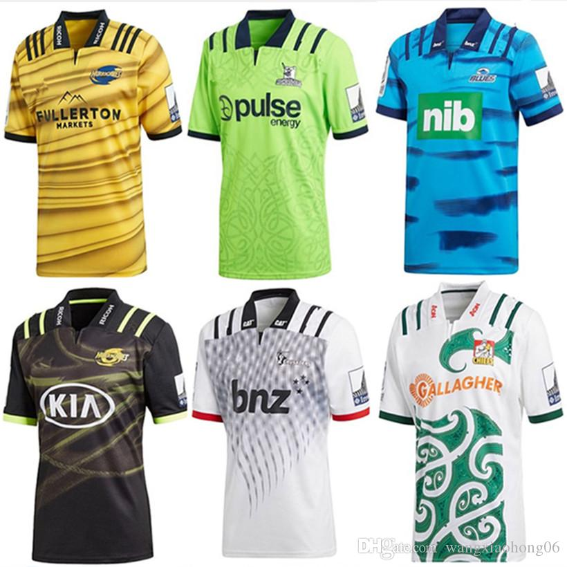 b2a94446d36 2019 2018 Chiefs Super Rugby Away Jersey New Zealand Super Chiefs Blues  Hurricanes Crusaders Highlanders Shirts Size S M L XL XXL 3XL From  Wangxiaohong06, ...