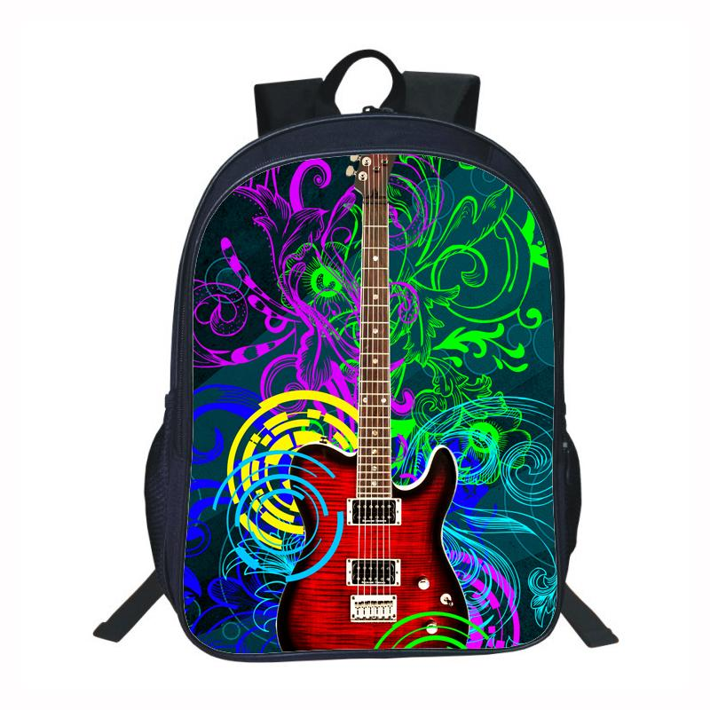 46b90e12af 3D Printing Guitar School Bags For Kids Backpack Brand Unique Design Modern  Fashion Music Bag School Rock School Bags For Girls Backpacks For School  From ...
