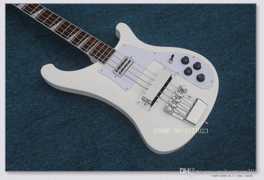Bass Guitar New Arrival White 4 Strings 4003 Basso elettrico di alta qualità Spedizione gratuita