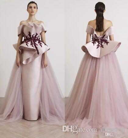 Azzi&Osta Fancy Evening Gown With Tulle Overskirt Off Shoulder ...