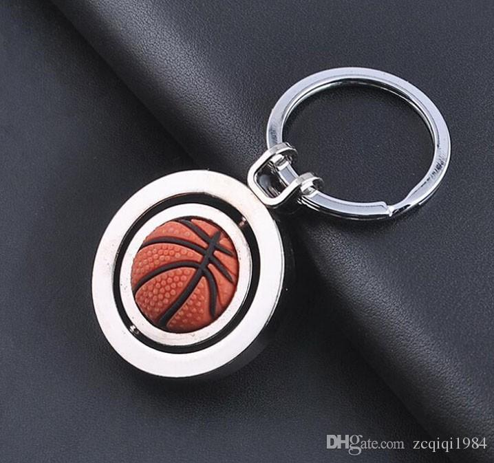 Yeni Varış 3D Spor Dönen Basketbol Anahtarlık Anahtarlık Topu Anahtarlık Takı Aksesuarları Sıcak satış