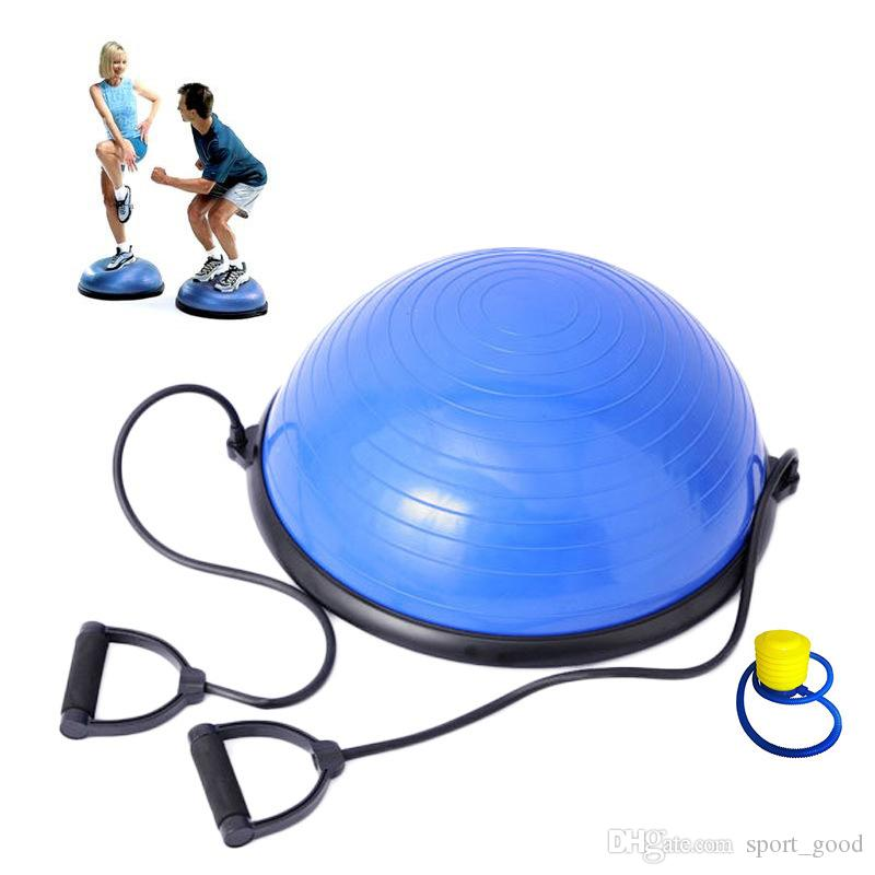 New Yoga Ball Balance Training Yoga Fitness Forza allenamento Emisfero Semicerchio Yoga Balls con pompa