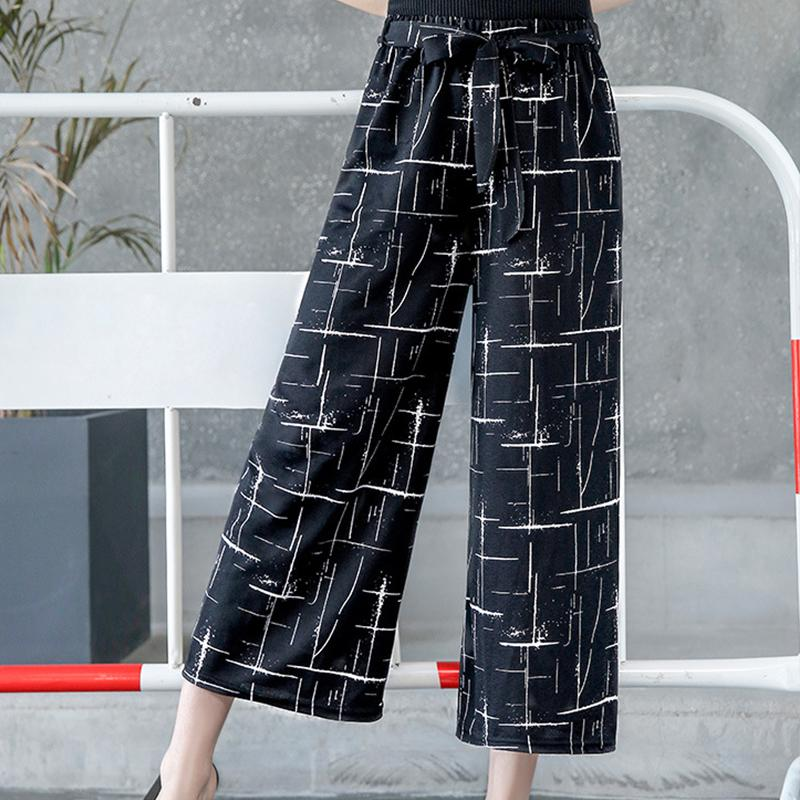 36f6ab844d 2019 Women New Wide Leg Pants Casual Loose High Elastic Waist Harem Pants  Loose Belt Elasticated Trousers Shein Vadim Clothes From Finebeautyone, ...