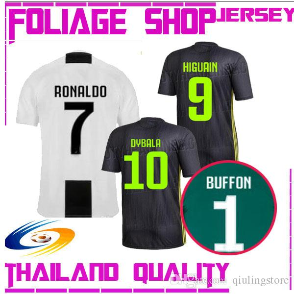 50278a8f6 2018 Juventus Soccer Jersey  7RONALDO 18 19 JUVENTUS 1 BUFFON ...