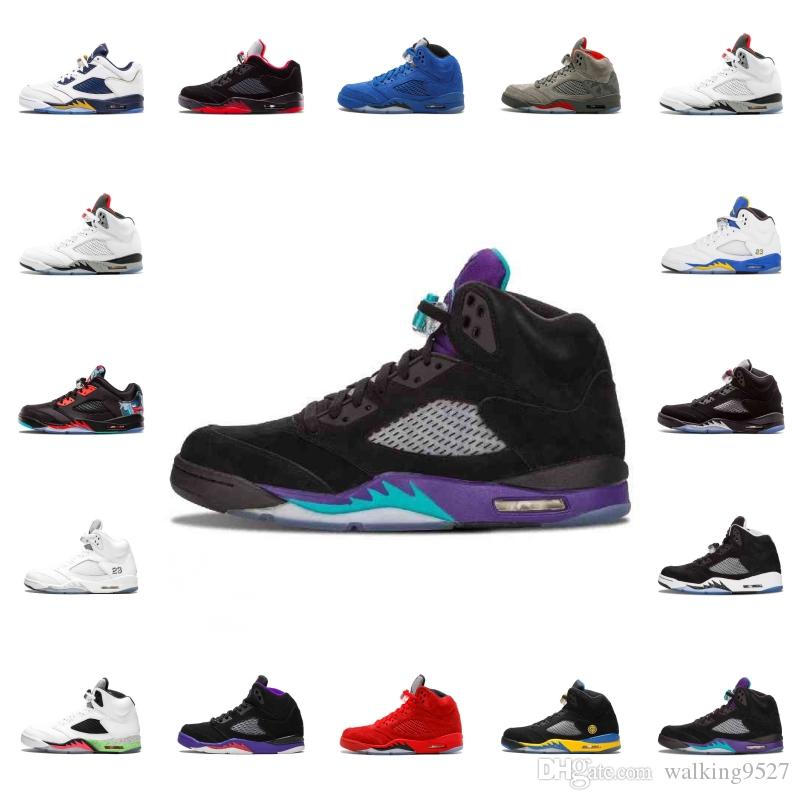 2e01b7e009 Wholesale 5 5s Basketball Shoes Black Grape White Cement Alternate ...