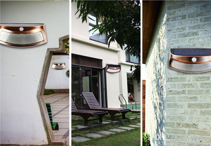 Acquista woxiu parete esterna luce solare lampada sorriso lampada