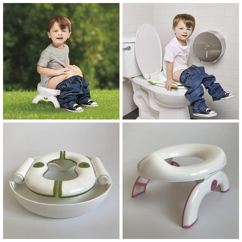 2019 Kids 2 In 1 Foldable Toilet Seat Infant Chamber Pots Travel