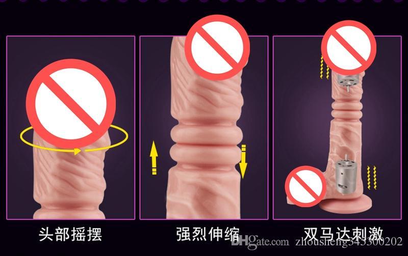 2017 Nouveau Silicone Vibrant Pénis Gode Double Moteurs Sex Toys pour Femmes Vibrateur Produits de Sexe Jouets Adultes Erotique Jouet Vibrateurs