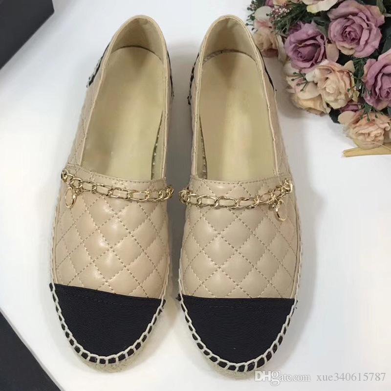 c3e23f450c Compre Nova Moda Solas Grossas Mulher Mocassins Verão Rodada Toe Mulheres  Apartamentos Sapatos Deslizamento Em Trançado Sapatos De Pescador Sapatos  De ...