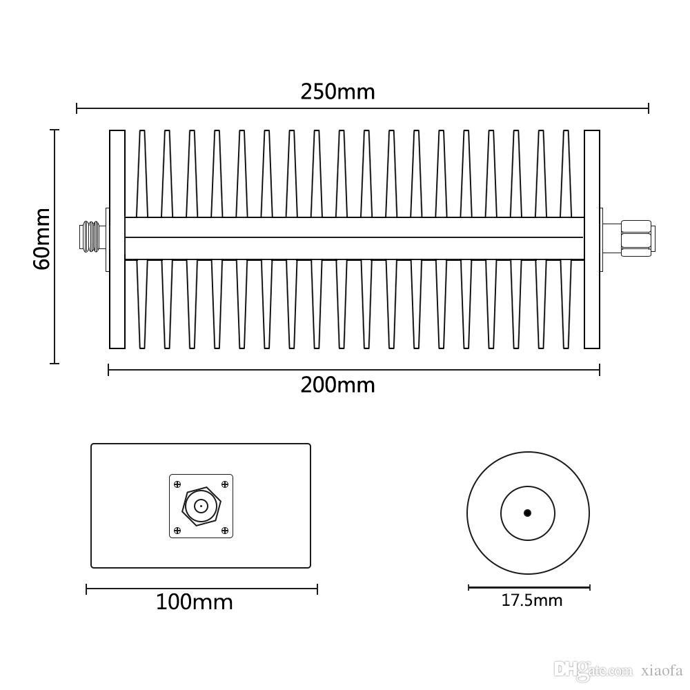 Atenuador fijo coaxial N-JK de 150 W, DC a 3GHz, 50 ohm, 3dB, byDHL