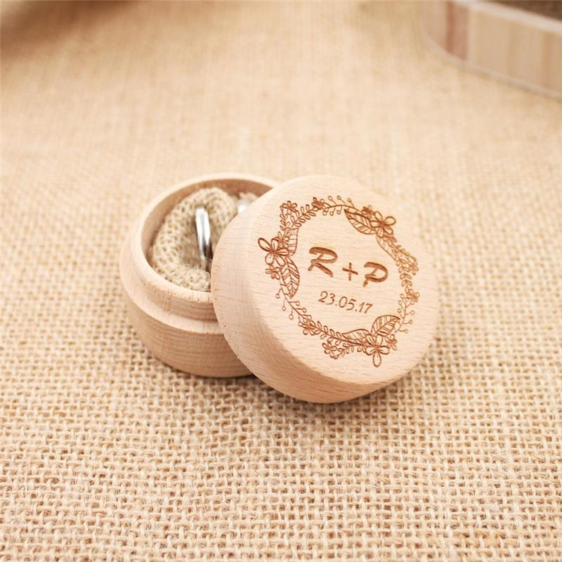 be0bf7859f 2019 54 Styles Rustic Custom Wedding Ring Box Personalized ...