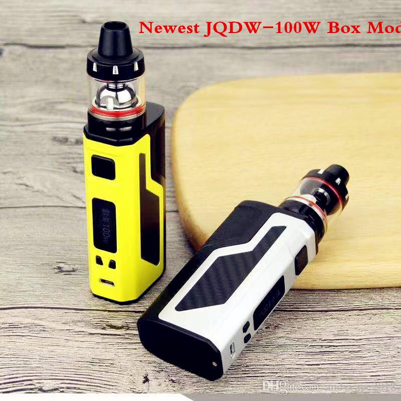 Original Vape JQDW-100W Box Mod Starter Kits with display screen big vapor electronic cigarette kit Built-in 2200mah battery stock offer