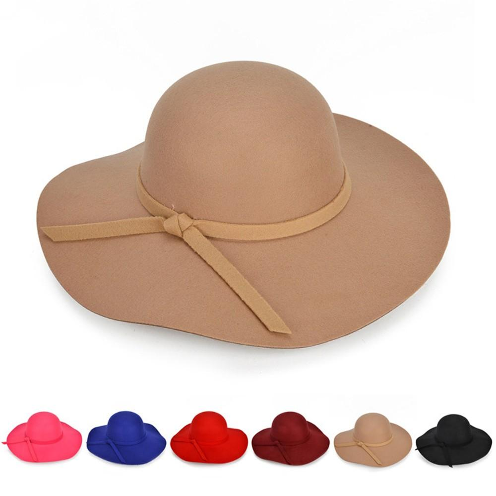 516c39a7fd61ff 2019 Sleeper #5001 Fashion Women Ladies Floppy Wide Brim Wool Felt Bowler  Beach Hat Sun Cap Summer Charm Beauty 2018new From Alley66, $35.28 |  DHgate.Com