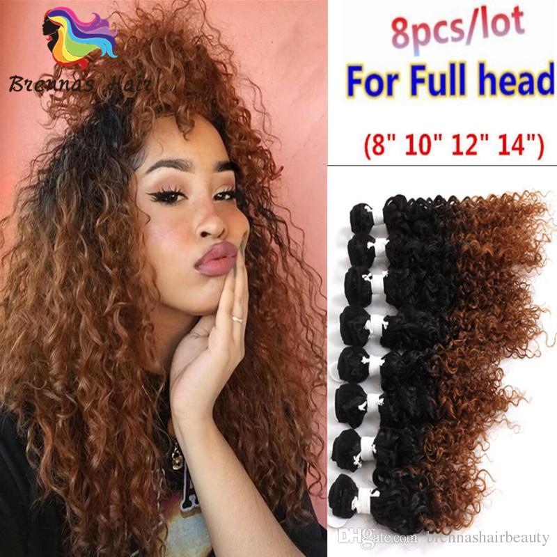 Burgundy Ombre Brazilian Mongolian Remy Human Hair Weave 8 14inch