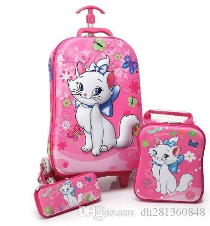 Kids Rolling Case Kid S Trolley Case Children Travel Suitcase School  Wheeled Backpack Bag Mochila Kid S Trolley Bags With Wheels Travel Bags For  Women ... f2ff509069