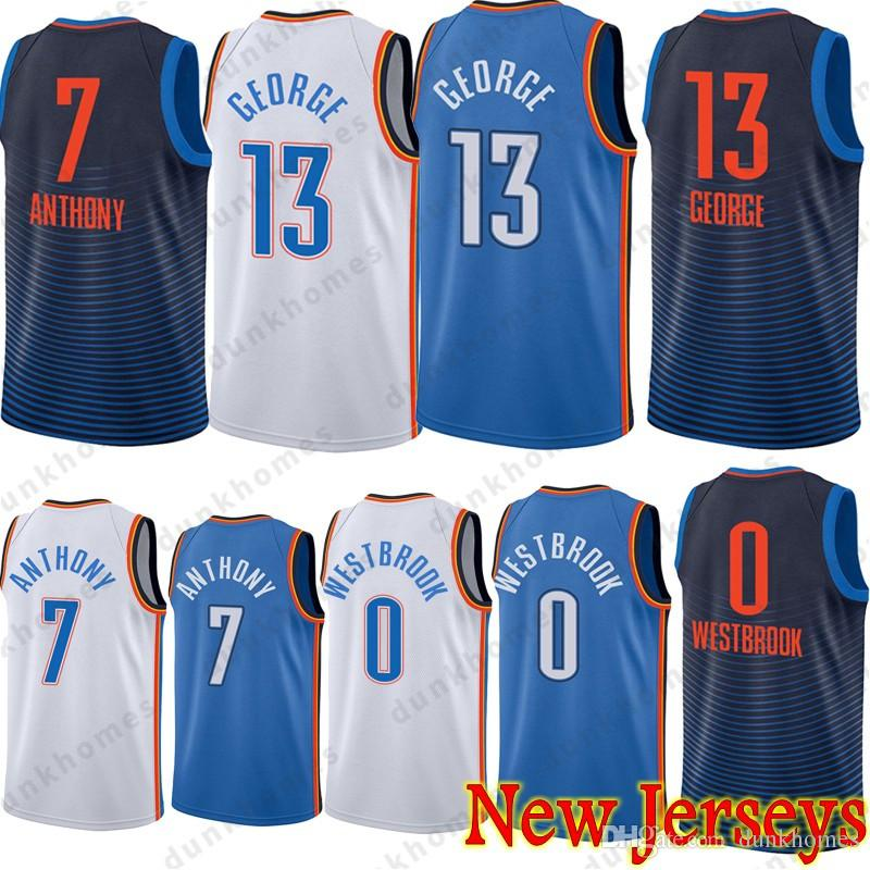 8a71a55a4bc7 ... stitched nba jersey 91c04 9c512  uk 2018 hot 13 paul george jerseys 0  russell westbrook 7 carmelo anthony embroidery logos basketball