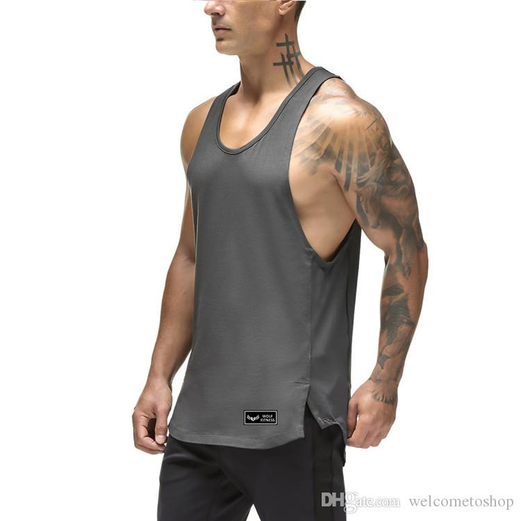 7316c4ab828a6 2019 Men S Casual Loose Fitness Tank Tops For Male Summer Quick Drying  Sleeveless Active Muscle T Shirts Vests Undershirt XXL From Topfashion88