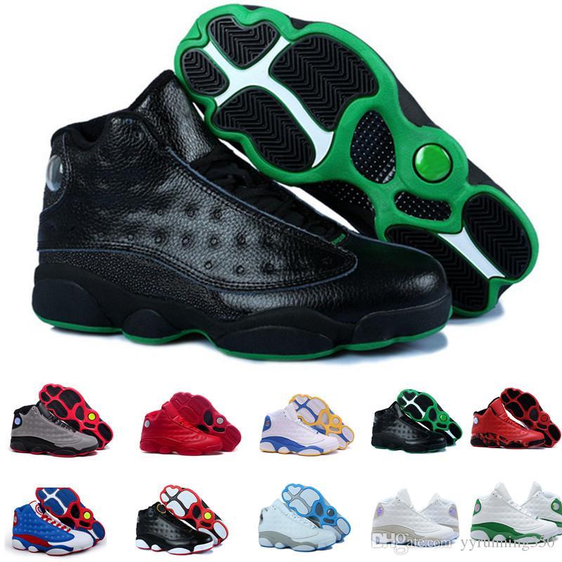 e2dbe6a2470 2018 13 Men Basketball Shoes Sneaker Altitude Black Cat Chicago Bred ...