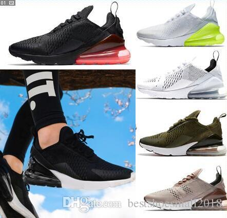 finest selection ac2f8 44f34 Acheter 2018 Nouveau 270 Tn Fly Knit Chaussures De Course 97 Navy Teal Hommes  Zoom Sports AIR Chaussure Medium Femme 270s Sneakers Zoo Pegasus 12,11,34  ...