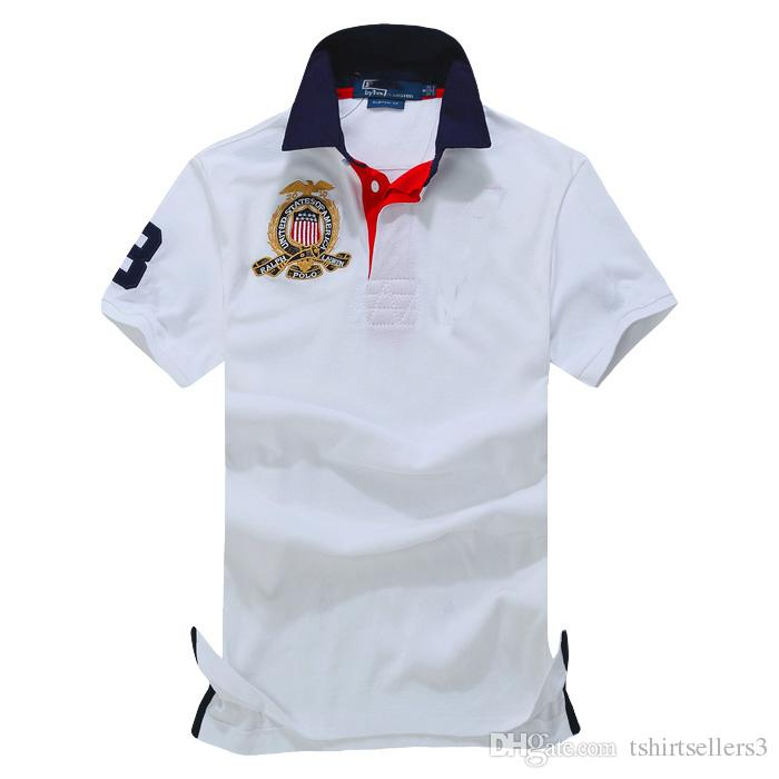 Ücretsiz kargo yaz seçimi Sıcak Satış klasik moda Kısa Kollu Polo erkek Gömlek 108 #, Damla nakliye