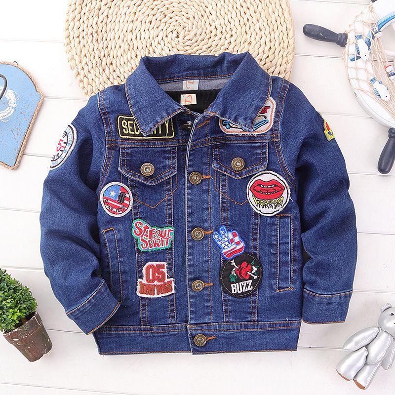 2018 Autumn Little Boy Coat Kids Spring Blue Boys Denim Jacket For