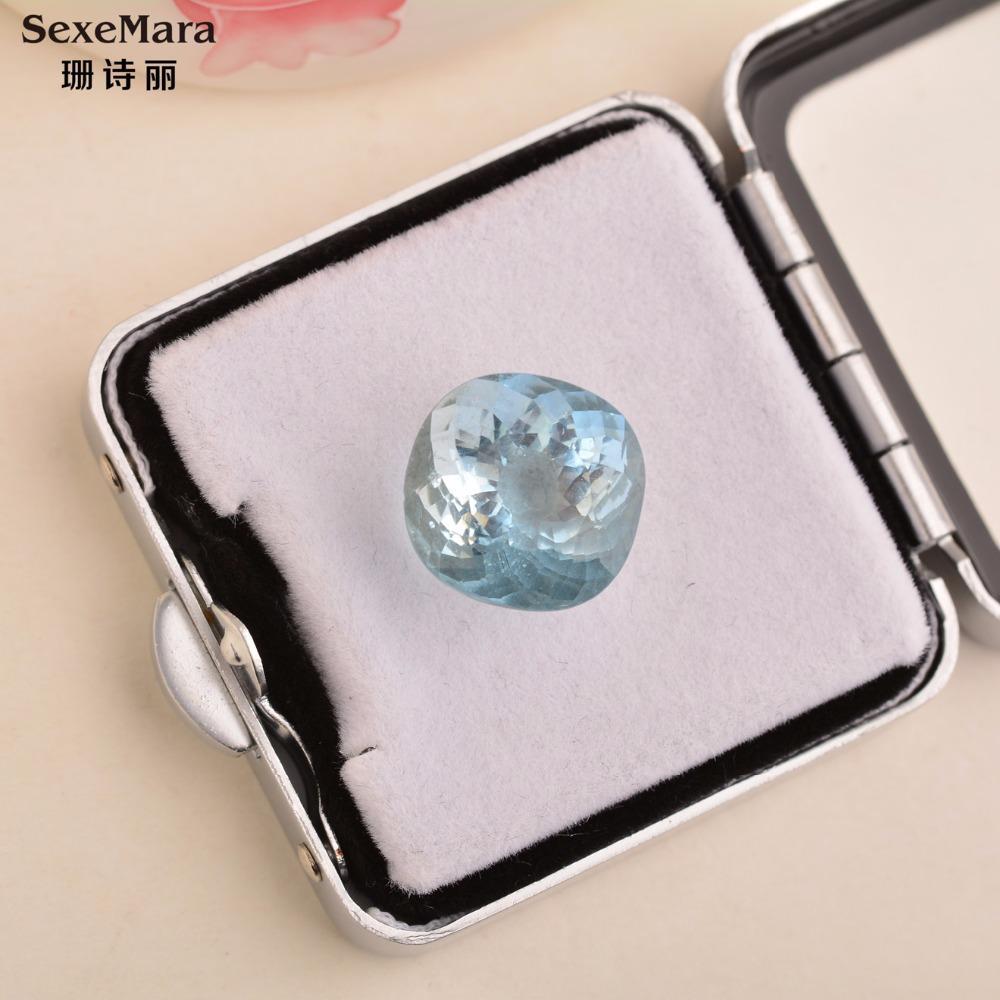 29bdc70405fe8 10.1 carat Natural 5A Grade Aquamarine Loose Stone Brazil Certificate