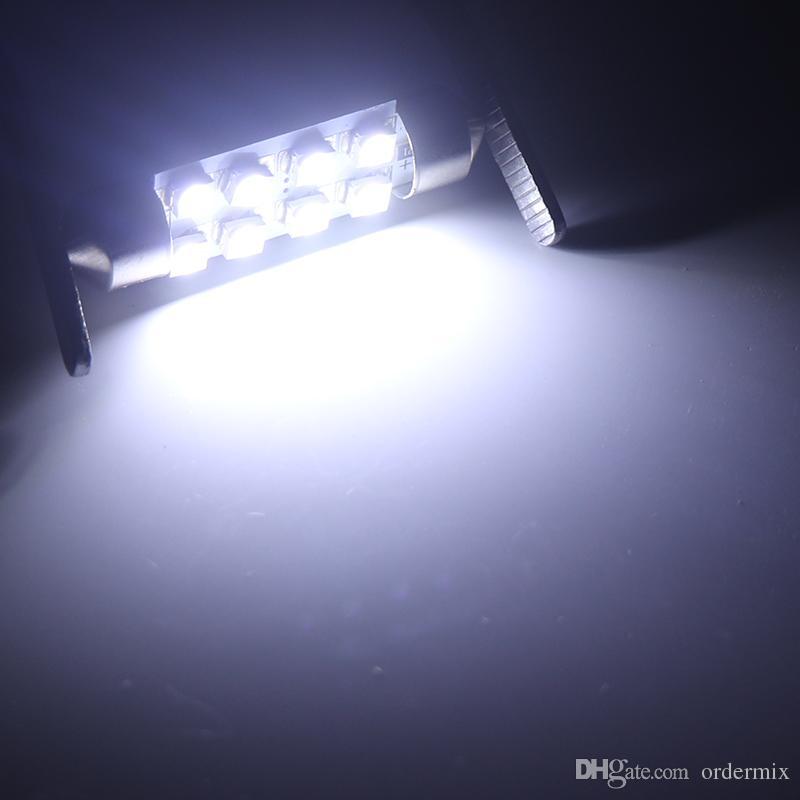 31 ملليمتر 36 ملليمتر 39 ملليمتر 41 ملليمتر festoon 8 رقائق 1210 led لمبة c5w c10w سيارة قبة ضوء السيارات الداخلية خريطة سقف مصباح القراءة dc12v الأبيض
