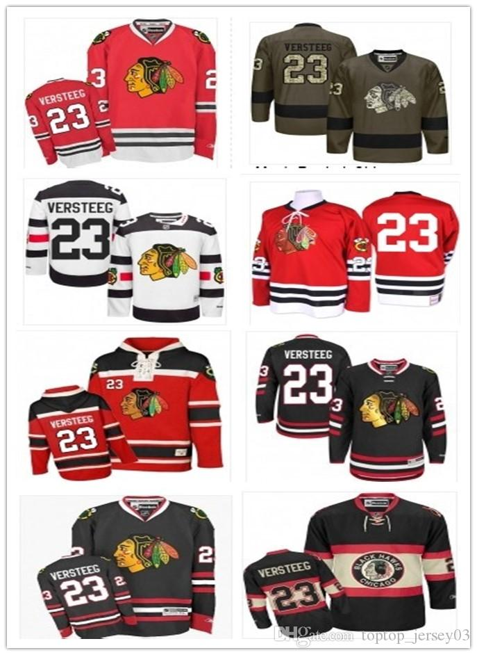 be15f9b5b Compre 2018 Chicago Blackhawks Jersey   23 Kris Versteeg Jersey Homens    Mulheres   Juventude   Homens Baseball Jersey Majestic Costurado  Profissional ...