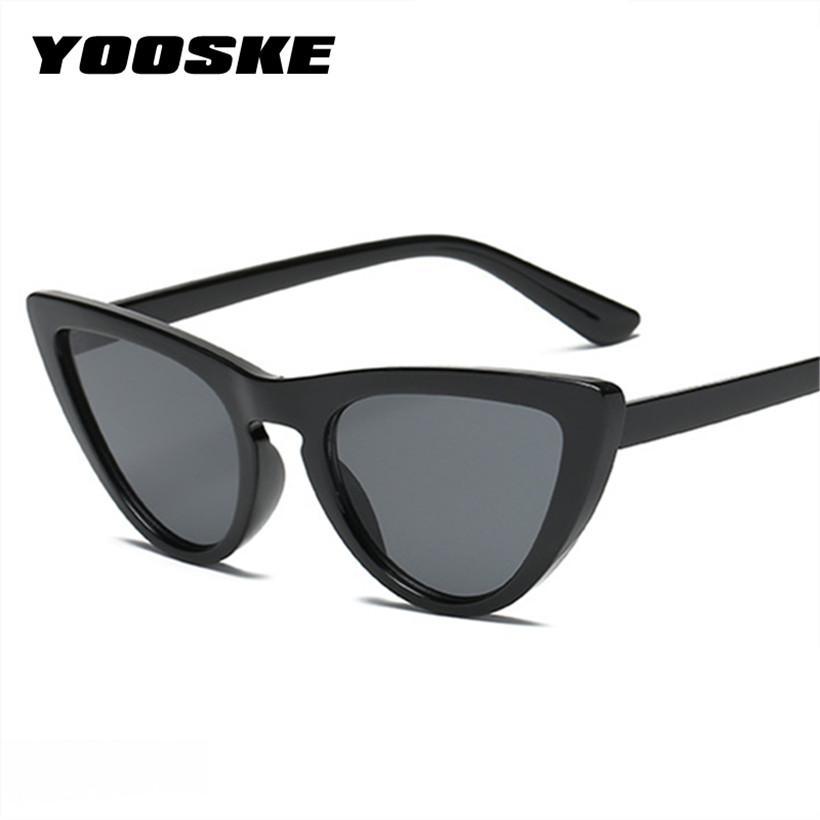 YOOSKE Vintage Cat Eye Sunglasses Women Retro Brand Designer Cat ...